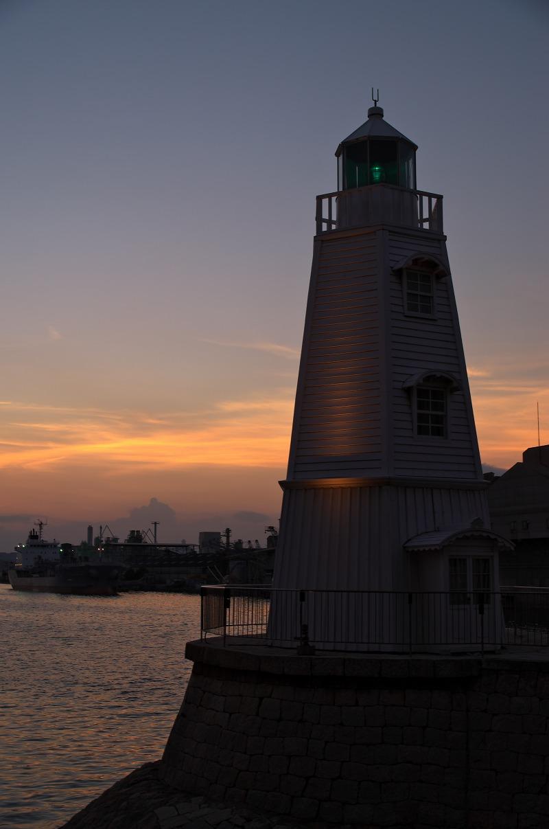 旧堺燈台 夕焼け 夕景