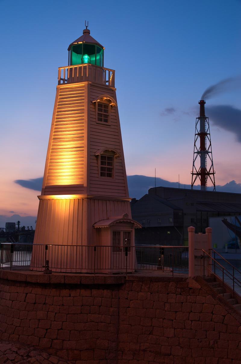 旧堺燈台 ライトアップ
