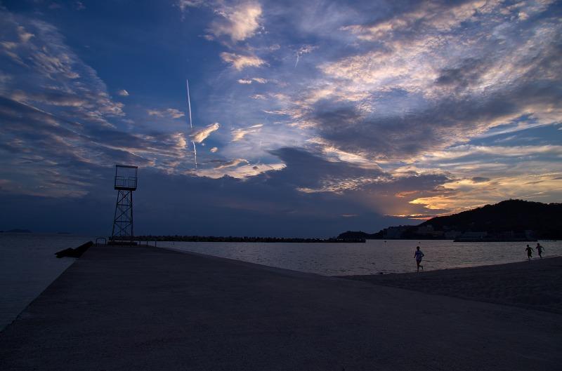 片男波公園 海水浴場