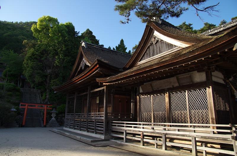琵琶湖 白鬚神社 鳥居