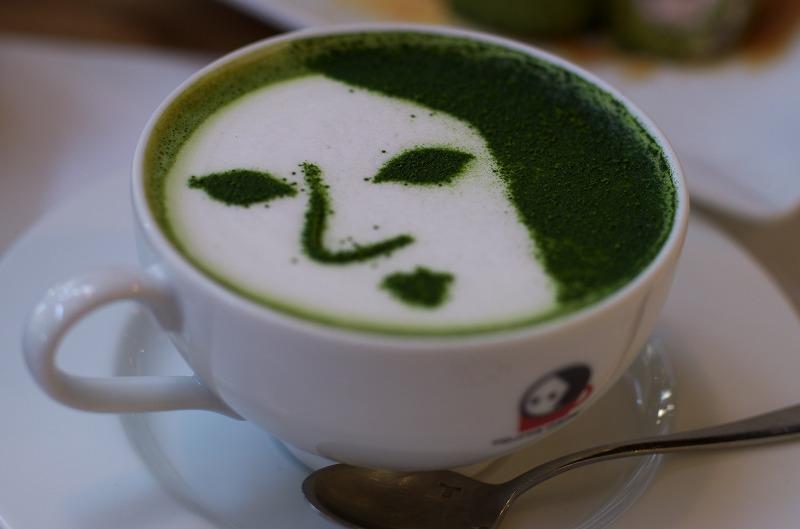 よーじやカフェの抹茶カプチーノ