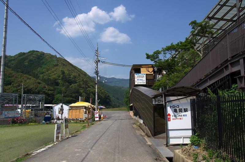嵯峨野 嵐山 トロッコ列車 新緑 夏