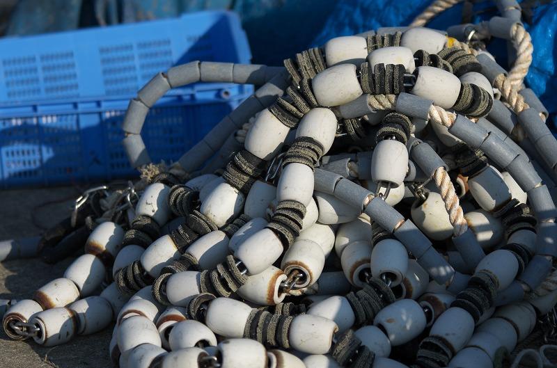 富島漁港 漁の網
