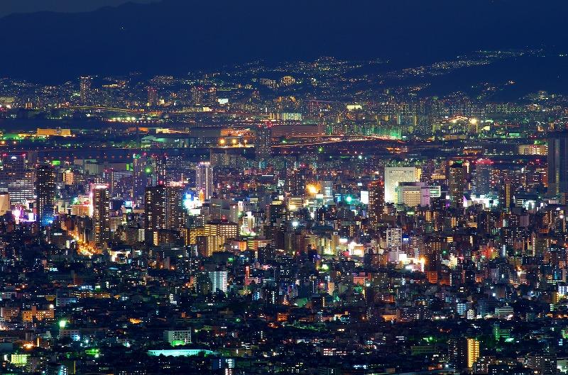 信貴生駒スカイライン 十三峠 夜景