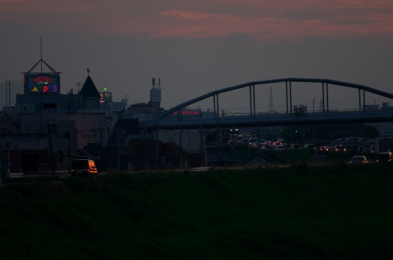 大和川・河内橋付近の夕焼け