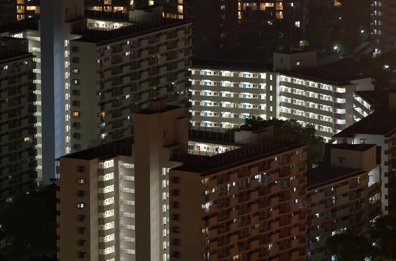大阪府咲洲庁舎展望台 夜景
