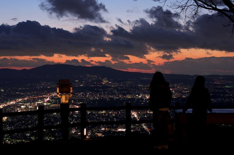 奈良 若草山 夕焼け 夕景 夜景 マジックアワー