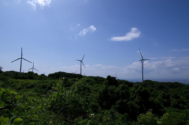 淡路島 風力発電の風車