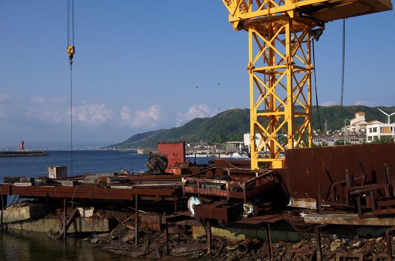 富島漁港 クレーン