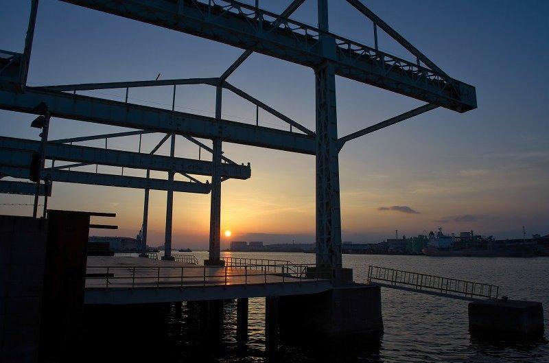 旧堺燈台 夕陽