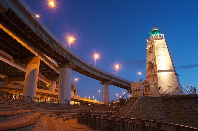 旧堺燈台☆期間限定ライトアップ