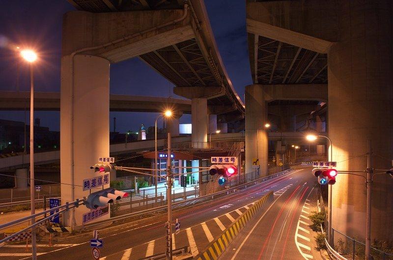 大浜ジャンクション 夜景