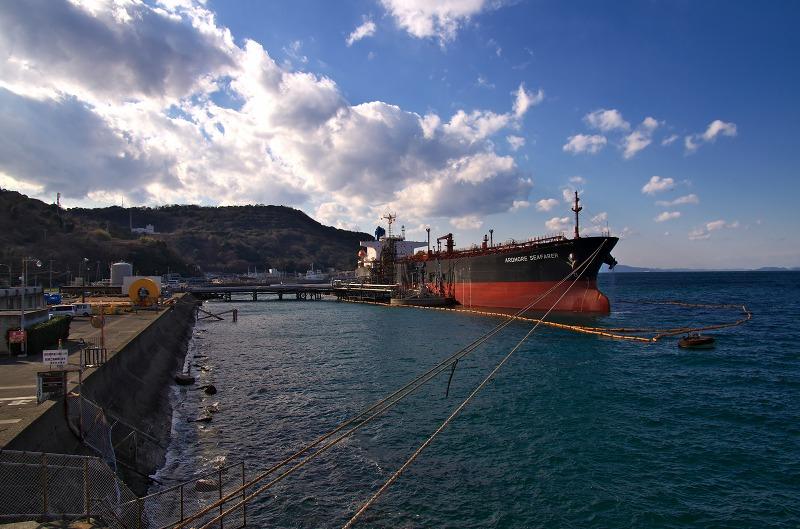 東燃ゼネラル石油和歌山工場 沖山北側 タンカー