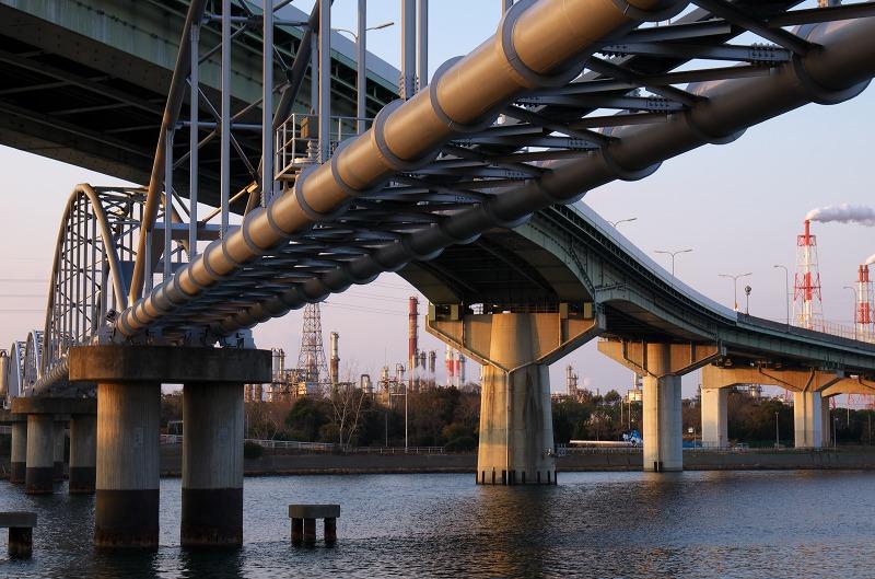 高石大橋 堺泉北臨海工業地帯 夜景