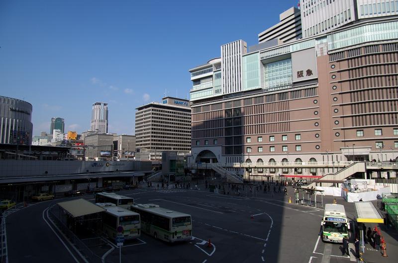 阪急梅田 歩道橋