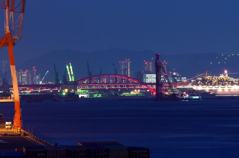 六甲アイランド 六甲大橋 夜景