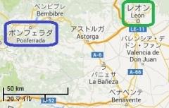 ポンフェラーダの位置