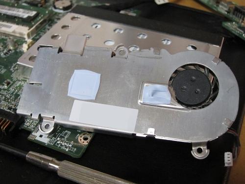 AOA150 CPU・チップヒートシンク 裏面