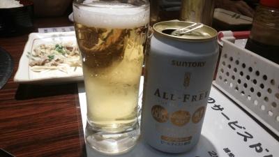 焼肉和オールフリービール