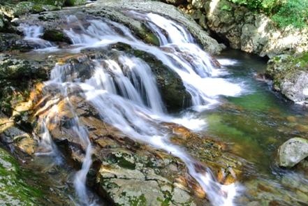 滑床渓谷3河鹿の滝
