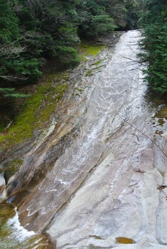 滑床渓谷14雪輪の滝右