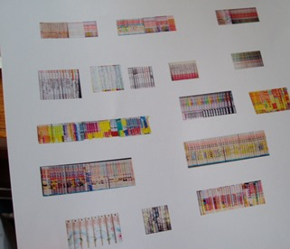 本の背表紙を印刷