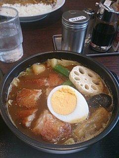 CoCo壱番屋 石山通り店 チキンスープカレー(その2)