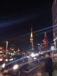 テレビ塔と久屋大通