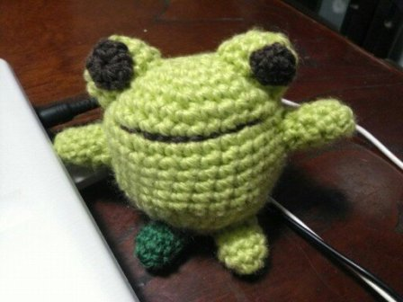 編み物カエル1
