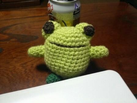 編み物カエル2