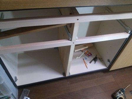 改修中の台所1