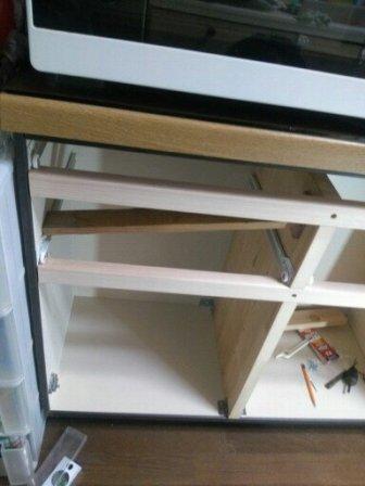 改修中の台所3