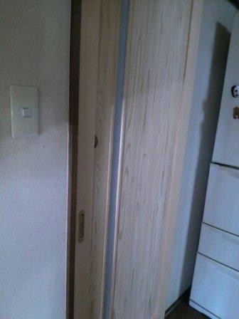 台所改修中ドア