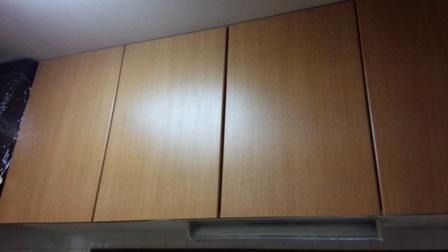 自宅リフォーム台所つり戸棚1