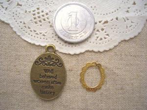 オーバルプレート、銅メタルフレーム
