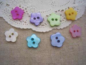お花のシェルボタン8色