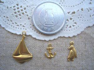 ヨット、アンカー(小)、ペンギン