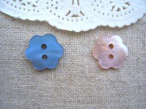 シェルお花:セルリアンブルー、桜色