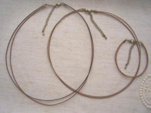 革ひも風のネックレスやブレス(AG)