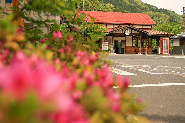 若桜駅 登録有形文化財 鳥取県八頭町 若桜鉄道 SL 機関車