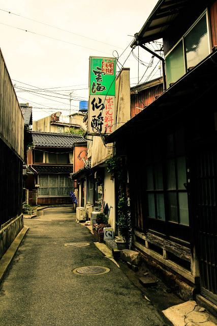 米子市 朝日町 裏通り 撮影