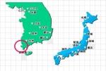 韓国船沈没事故事故現場を表した地図(笑)