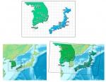 韓国での地図の実際との対比