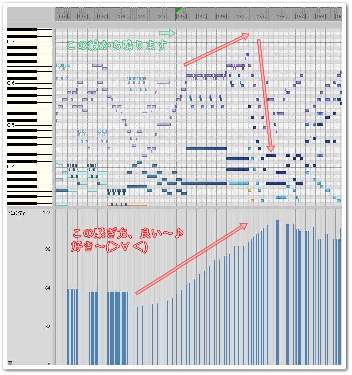 ピアノロール画面きゃぷ
