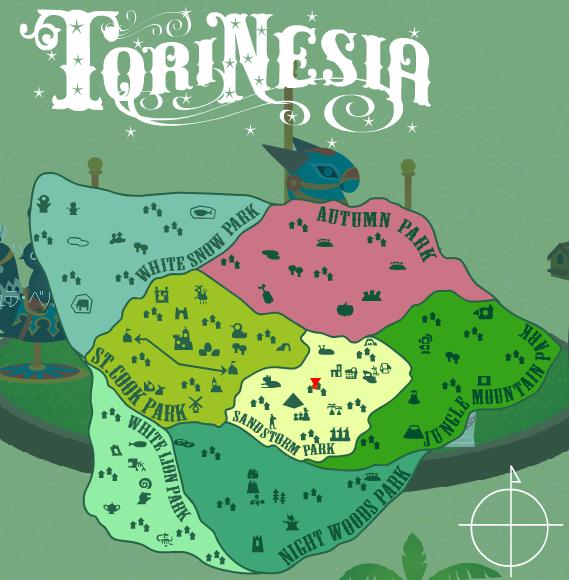 トリネシア地図