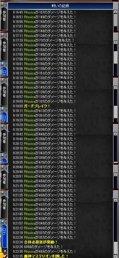 Lv.20レイドボス戦いの記録