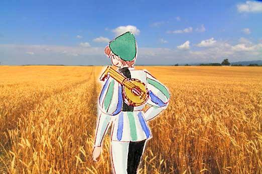 彼方まで平和な麦畑