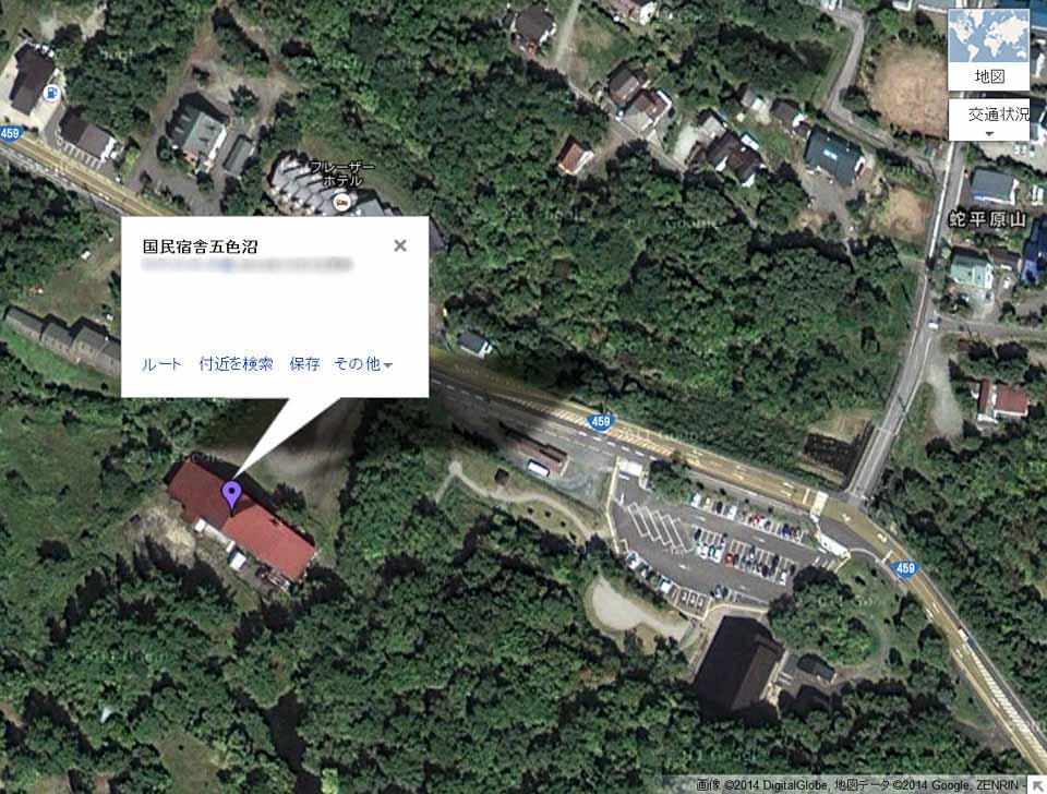 国民宿舎五色沼_地図
