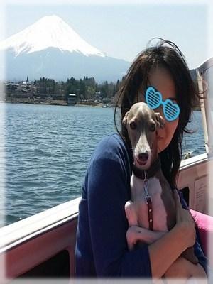 河口湖ボート・Oちゃん&キャスパー