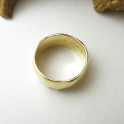 10金 イエローゴールド シンプル 指輪 オーダーメイド